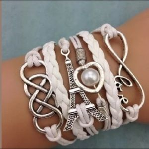 Jewelry - 🎈SALE🎈New! White leather multilayer bracelet